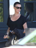 Charlize Theron Brings Her Cropped Hair Back to LA