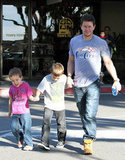 Mark Wahlberg and his sons, Brendan and Michael, went to lunch in LA.