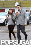 Ben Affleck and Jennifer Garner strolled with their coffee.