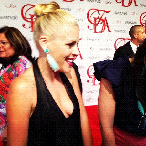 We got a firsthand look at Busy Philipps's gorgeous earrings at a CFDA event.