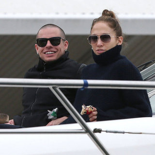 Jennifer Lopez and Casper Smart on a Yacht  | Pictures