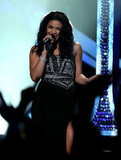 Jordin Sparks performed a tribute to Whitney Houston.
