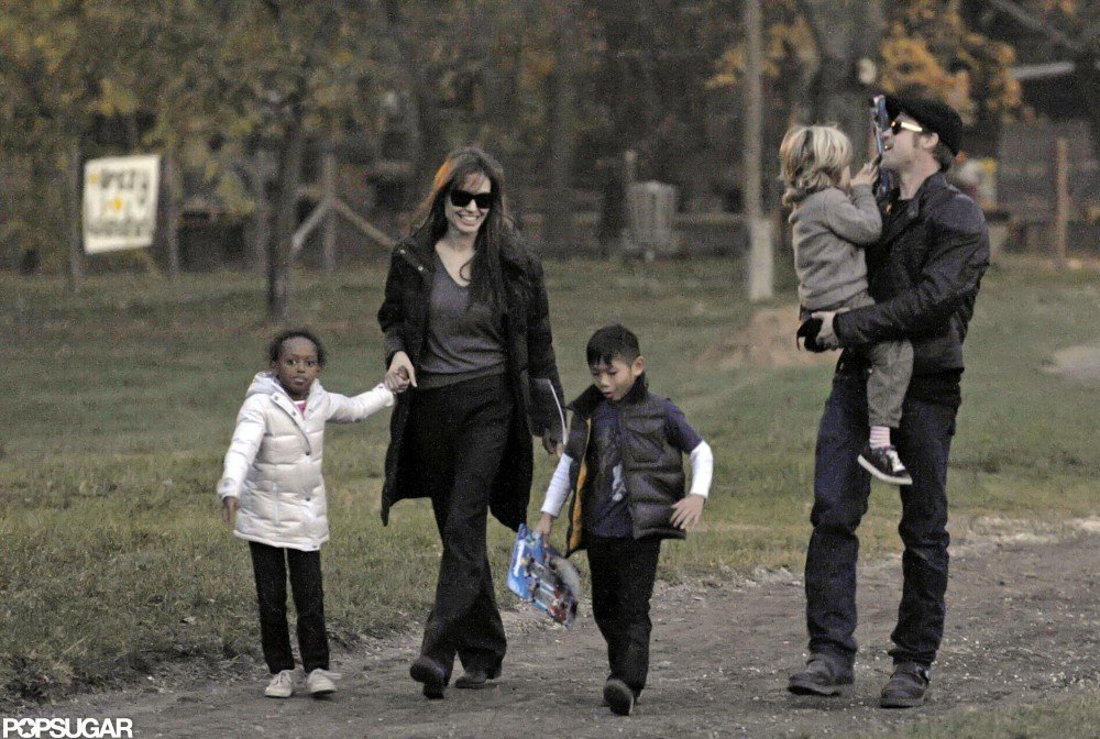 Zahara, Pax, and Shiloh walked in Budapest in November 2010.