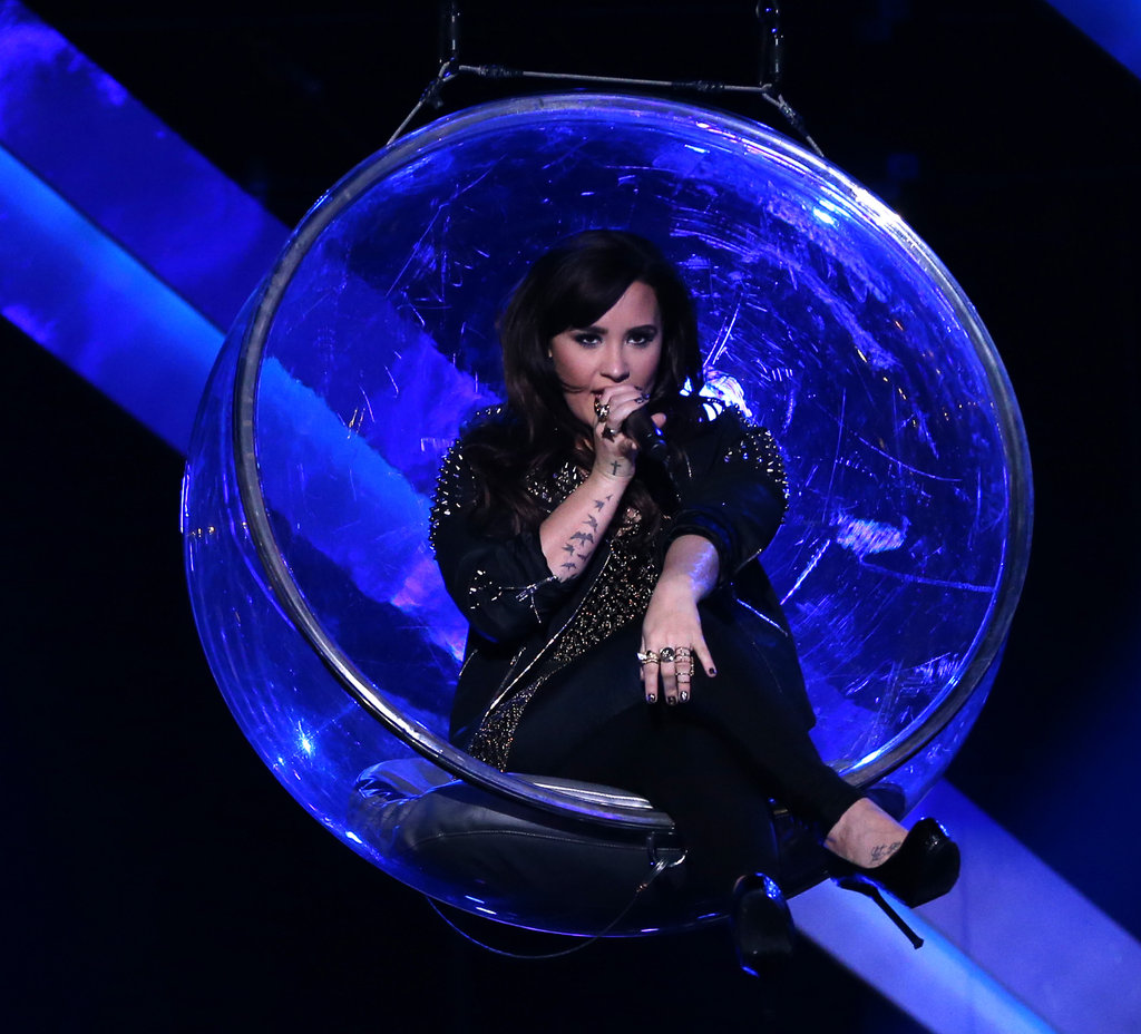 "Demi Lovato performed ""Give Your Heart a Break."""