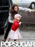 Jennifer Garner helped Seraphina Affleck out of the car.