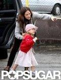 Jennifer Garner helped Seraphina Affleck out of the car.