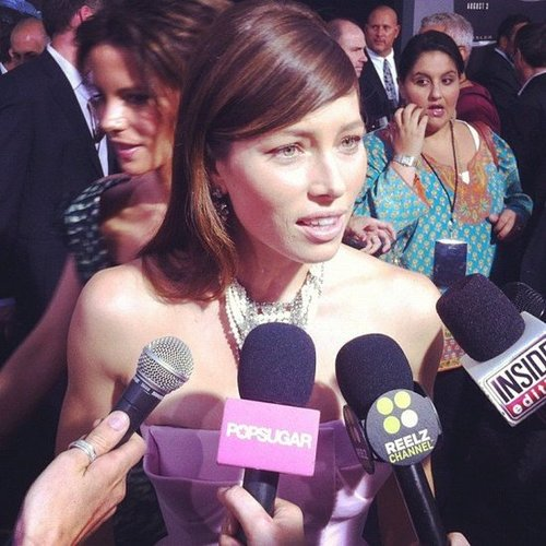 Jessica Biel told us how relaxed she was about her wedding to Justin Timberlake before the big day when we talked to her at the Total Recall premiere.