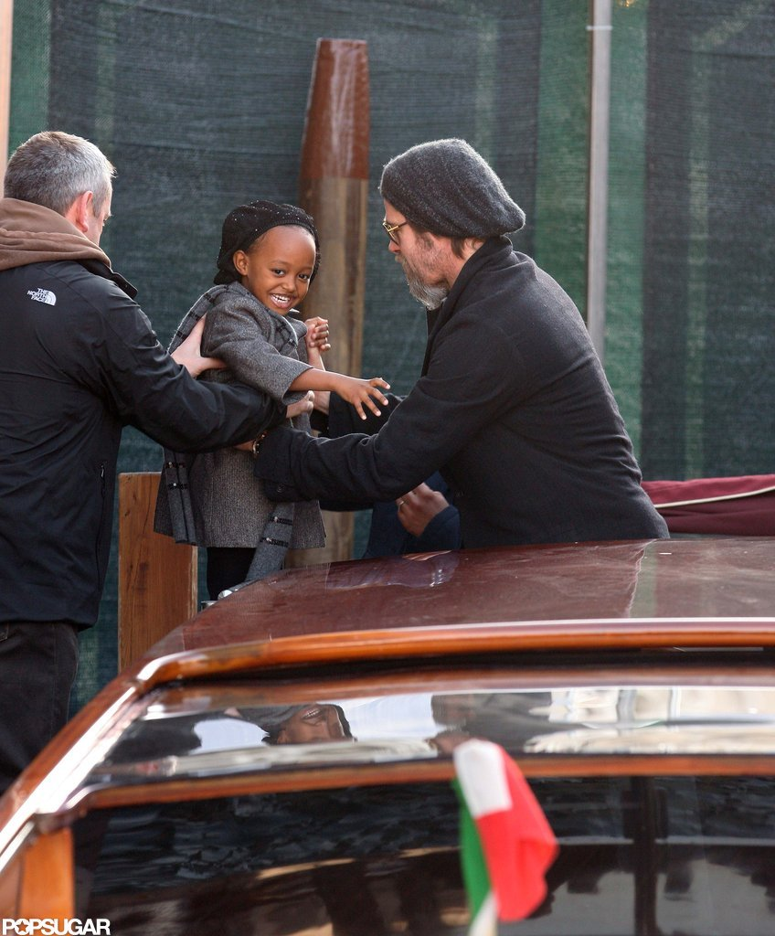 Zahara was silly with Brad Pitt in Venice in February 2010.
