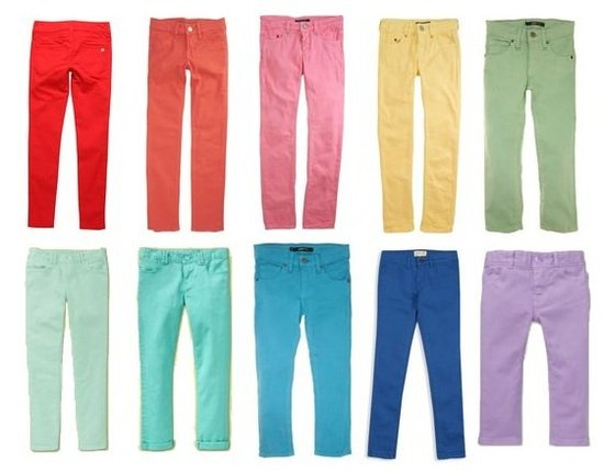 Brilliant Brights: Colored Denim For Kids