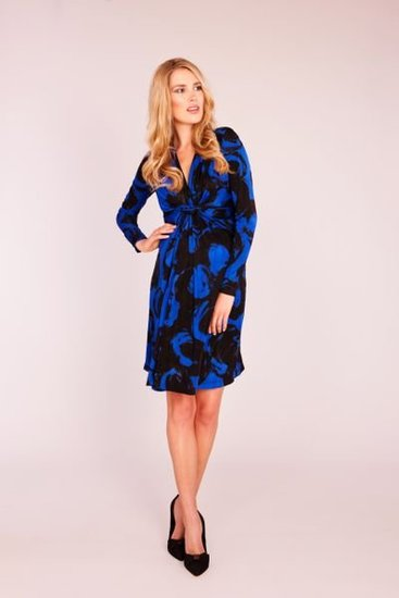 Seraphine Maternity Silk Jersey Dress