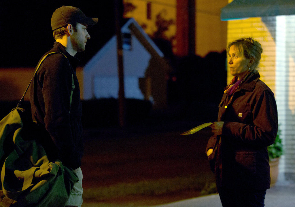 John Krasinski and Frances McDormand in Promised Land.