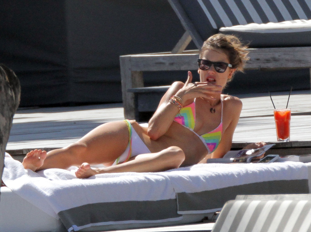 Alessandra Ambrosio spent time in St. Barts.