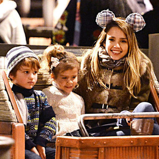 Jessica Alba and Her Family at Disneyland