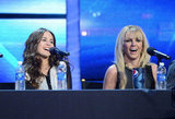 Britney Spears laughed with finalist Carly Rose Sonenclar.