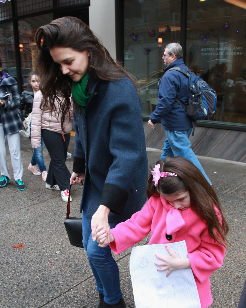 Katie Holmes and Suri Cruise dined at Sugar and Plumm in NYC.