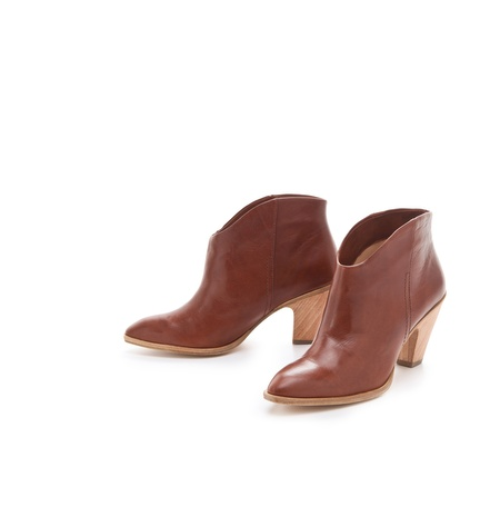 We adore the subtle Western feel and neutral leather (that's only going to get better with wear) on these Belle by Sigerson Morrison Lamar Distressed Booties ($228, originally $325).