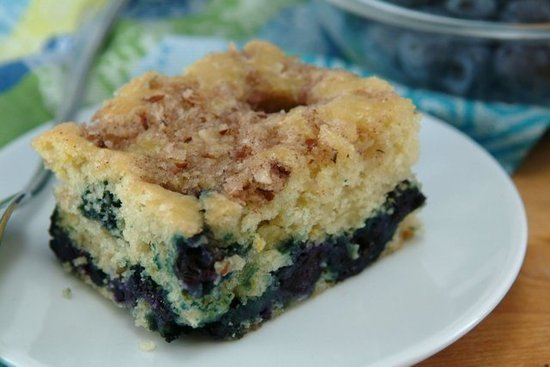 ... blueberry lemon coffee cake, a recipe from FitSugar reader Whipped