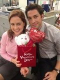 John Krasinski gave us a peek into The Office's final Valentine's Day episode. Source: Twitter user johnkrasinski