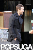 Ryan Reynolds waited for his car.