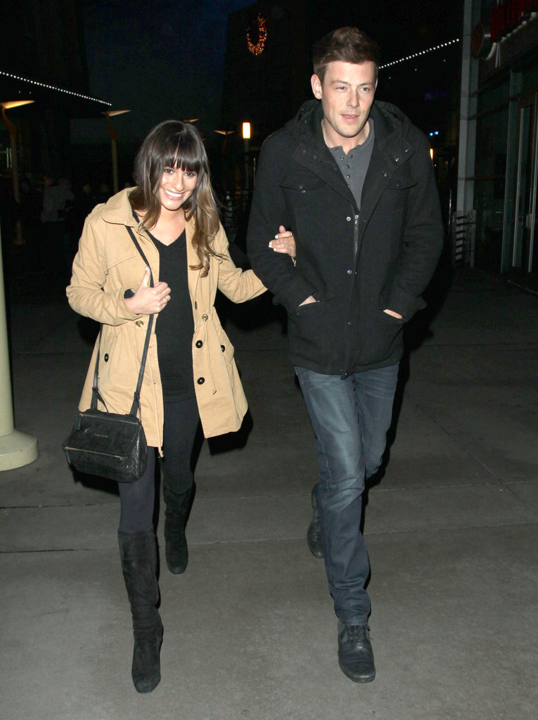 Lea Michele and Cory Monteith had a relaxed date night.