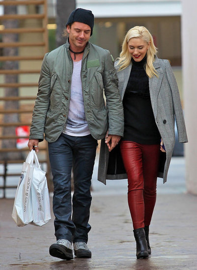 Gavin Rossdale and Gwen Stefani held hands as they did a bit of holiday shopping in LA in December 2012.