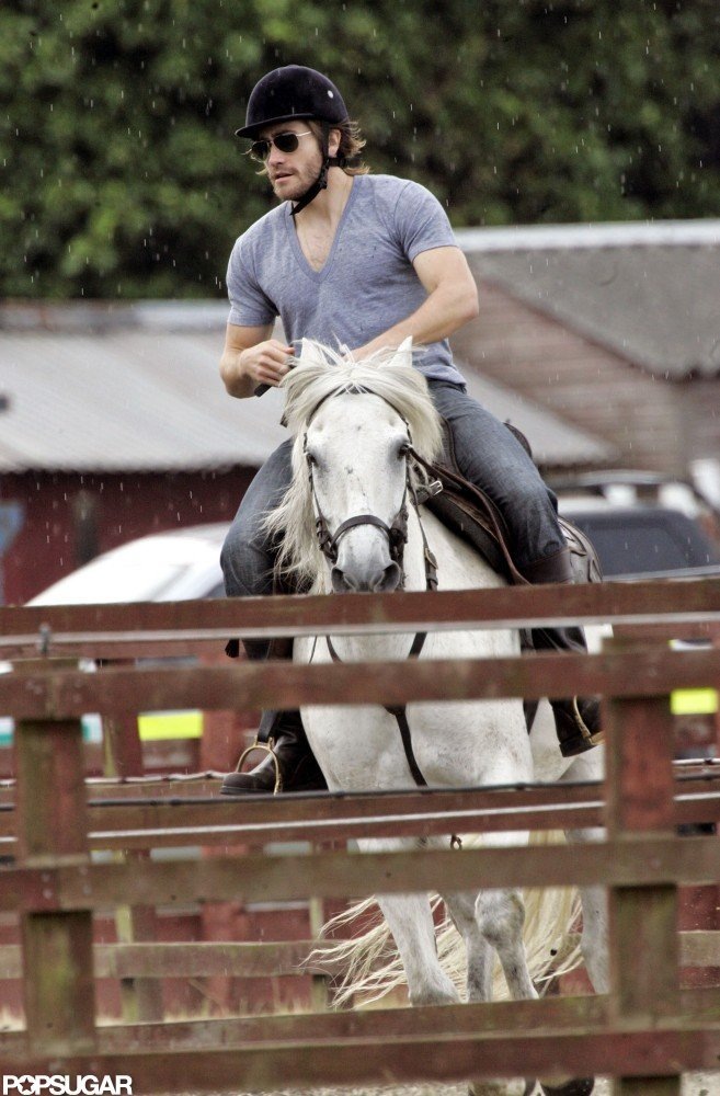 He perfected his horse-riding during a Summer trip to London in 2008.