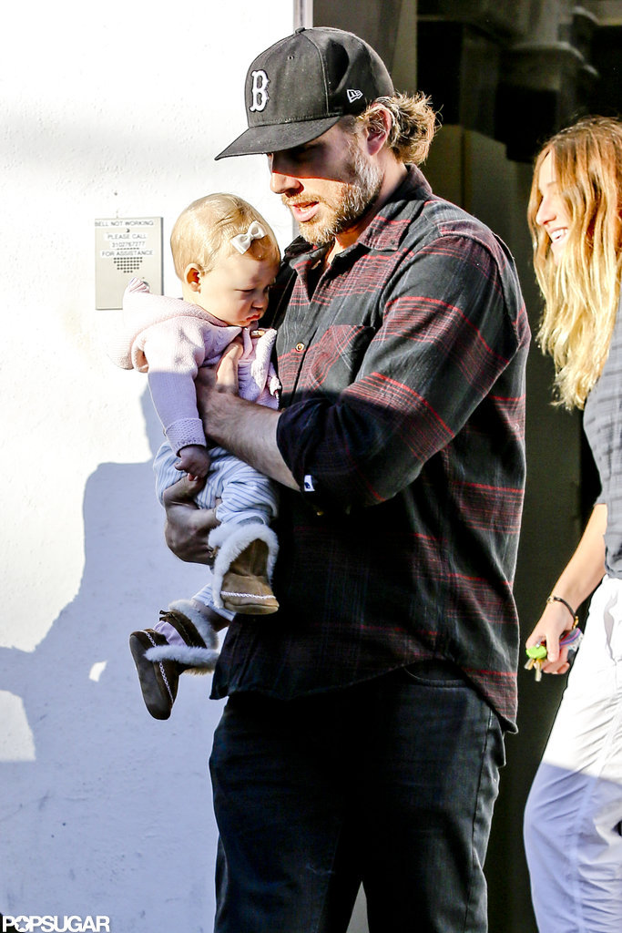 Eric Johnson and daughter Maxwell went shopping without Jessica Simpson.