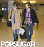 Anne Hathaway and Adam Shulman caught a flight together.