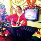 Hilary Rhoda dressed up as Santa. Source: Twitter user HilaryHRhoda