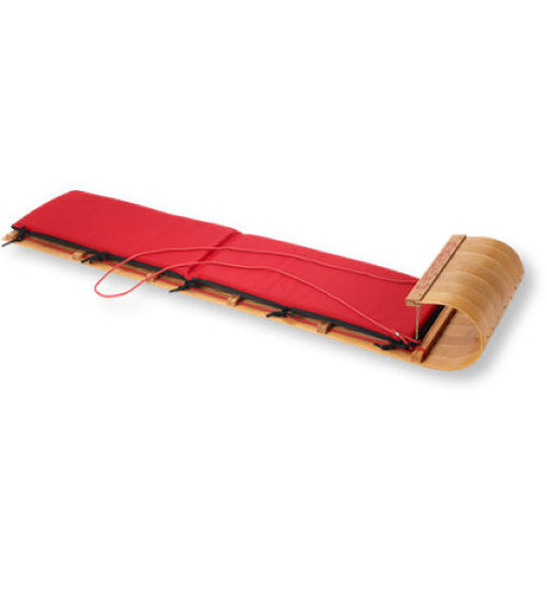 L.L.Bean Classic Toboggan &amp; Cushion Set 
