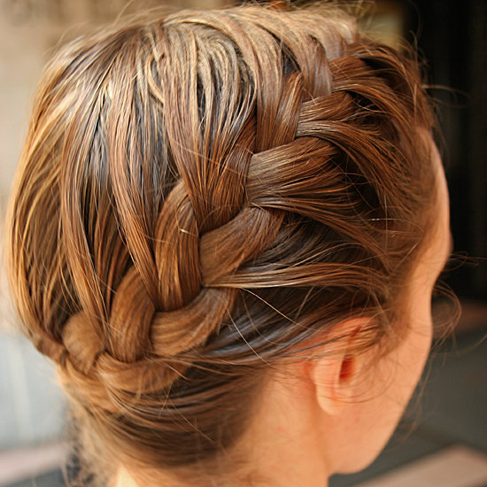 A Side French Braid à la Katniss