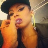 The Vampire Diaries' Kat Graham got her makeup done. Source: Instagram user katgrahampics