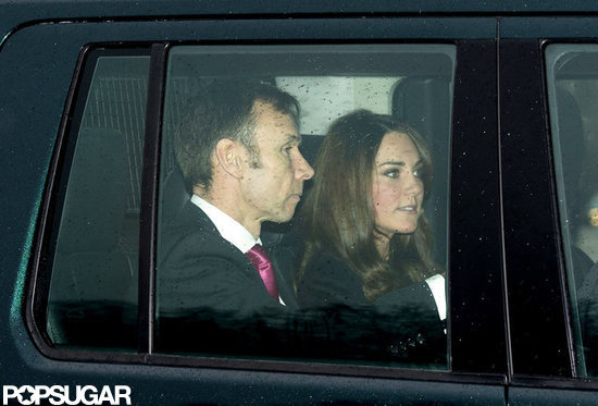 Pregnant Kate Puts on a Happy Face For Christmas Lunch at the Palace