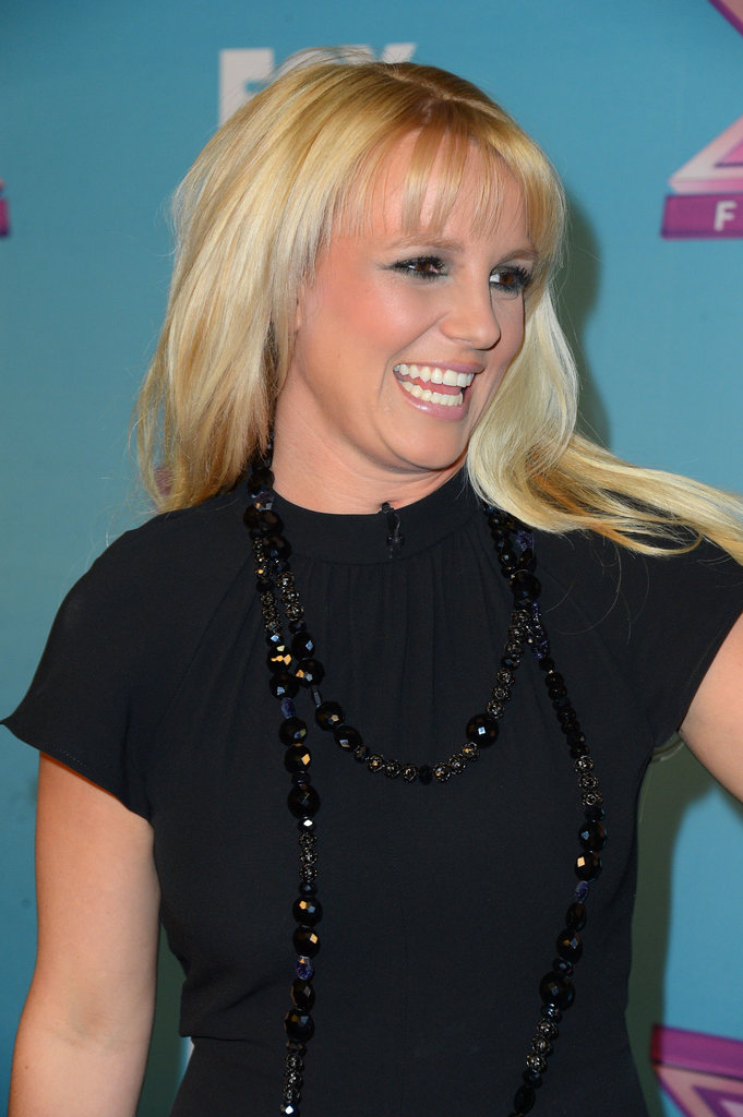 Britney Campaigns For Carly at The X Factor Finale's First Night