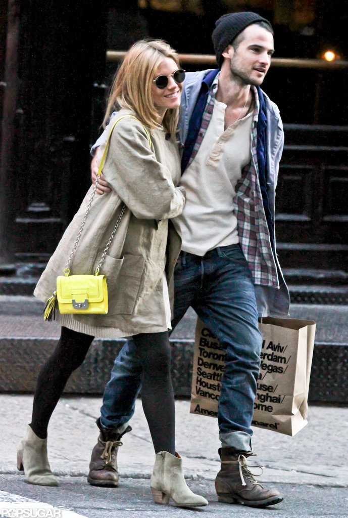 Sienna Miller and Tom Sturridge looked happy in March as they went on a shopping trip together to American Apparel in NYC.