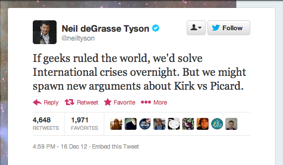 All of geekdom was slowly nodding their heads in response to Neil deGrasse Tyson of StarTalk Radio.