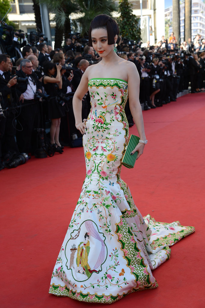 Fan Bingbing was the picture of haute couture in a colourful fishtail gown in Cannes earlier this year.