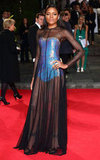 Naomie Harris made a holographic-meets-ultra-sheer impression at the London premiere of Skyfall.
