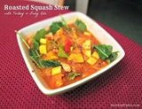 Roasted Squash Stew with Turkey & Baby Kale