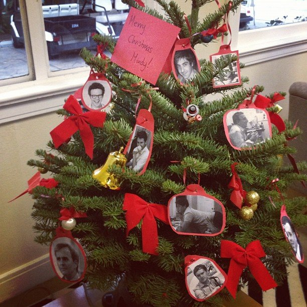 Mindy Kaling got a surprise Christmas tree from her writing staff. Source: Instagram user mindykaling