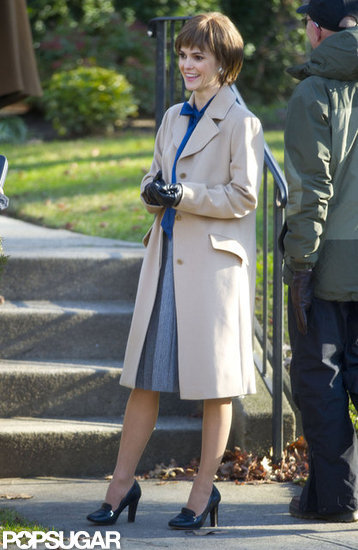 Keri Russell Shows Off Her Short Hair on Set