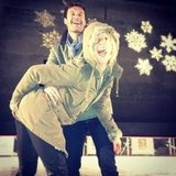 Julianne Hough and Ryan Seacrest got cute ice skating.  Source: Instagram user juleshough