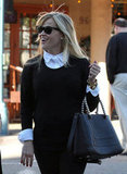 Reese Witherspoon carried a black handbag in LA.