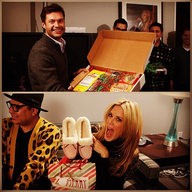 Ryan Seacrest had a gift exchange with his On Air staff.  Source: Instagram user 1027kissfm