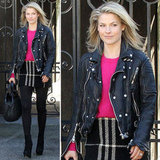 Play with two kinds of styling sensibilities, the Ali Larter way. Edgy and preppy have never looked better.