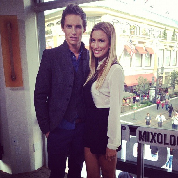 TV presented Renee Bargh caught up with actor Eddie Redmayne — and said he's one of the most attractive men she's ever met! Source: Instagram user reneebargh