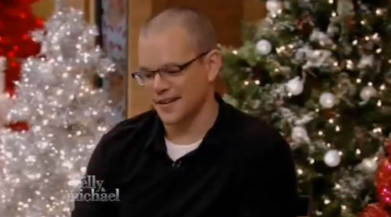 Video: Matt Damon Talks About Christmas With His Five Girls