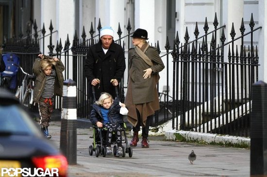 Gwen Stefani took a stroll with her boys.
