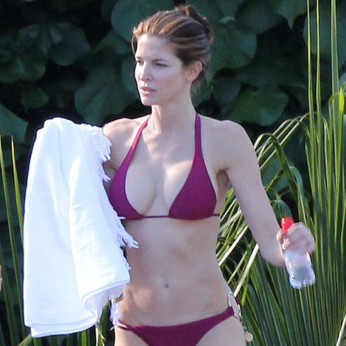 Stephanie Seymour in a Bikini in St. Barts 2012