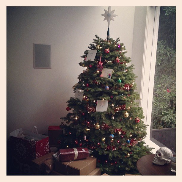 Jared Leto posted a photo of his family's Christmas tree. Source: Instagram user JaredLeto